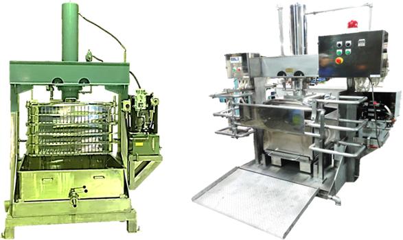 油圧圧搾機(絞り機)